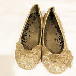 Brash dress shoes girls new size 3M gold glitter